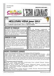 N° 1003 du 2 janvier 2013 - Saint-Alban
