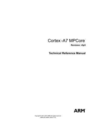 cortex m system design kit technical reference manual arm rh yumpu com arm cortex-m4 processor technical reference manual Cortex-M4 Instruction Set
