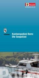 Kantonspolizei Bern: Die Seepolizei - Kantonspolizei Bern - Kanton ...