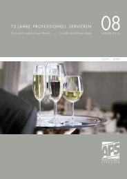 75 JAHRE PROFESSIONELL SERVIEREN - Hotel-Hogar