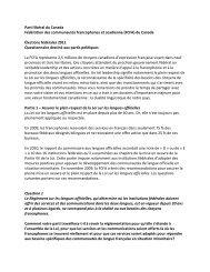 Parti libéral du Canada Fédération des communautés francophones ...