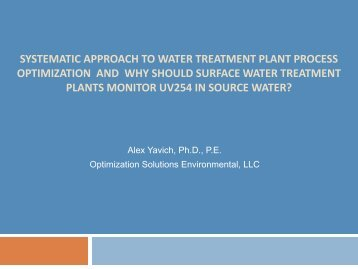 Systematic Approach to Water Treatment Plant ... - Ohiowater.org