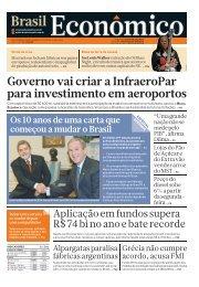 Governo vai criar a InfraeroPar para ... - Brasil Econômico