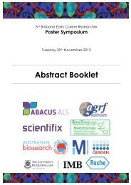 ECR Poster Symposium Abstract Booklet - Institute for Molecular ...
