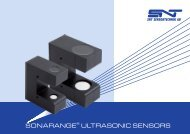 Ultrasonic catalogue - SNT Sensortechnik AG