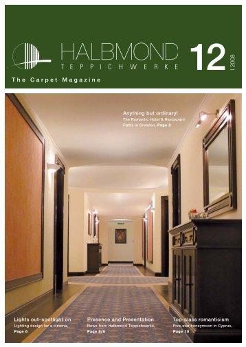 I 2008 The Carpet Magazine - Halbmond Teppichwerke GmbH