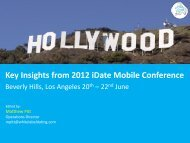 Key Insights from 2012 idate Mobile Conference