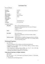 Curriculum Vitae Personal Details Academic Studies Professional ...