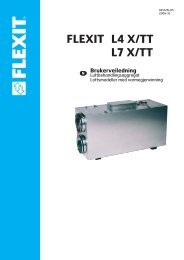Brukerveiledning X - Flexit