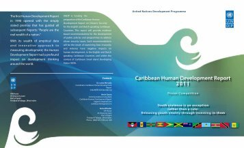 Caribbean Human Development Report 2011 - UNDP Trinidad and ...