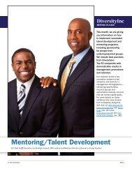 Mentoring/Talent Development - DiversityInc Best Practices
