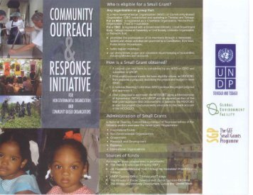 SGP Brochure - UNDP Trinidad and Tobago
