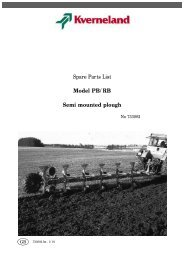 Spare Parts List Model PB/RB Semi mounted plough - Hjallerup ...