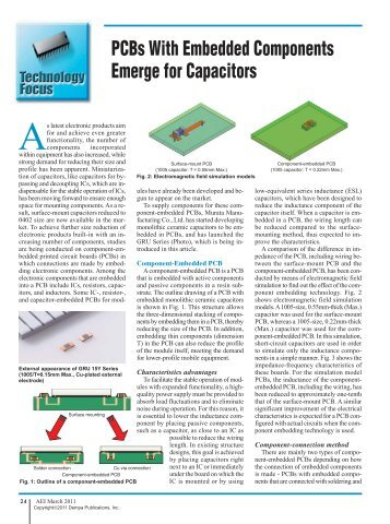 PCBs With Embedded Components Emerge for Capacitors - Murata