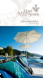 download: experiences & packages summer - Hotel Schloss Seefels