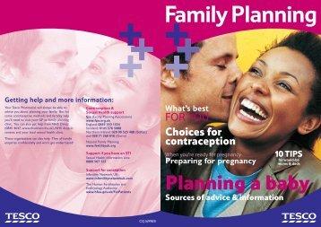 Preparing for Pregnancy - Tesco