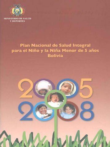 plan nacional de salud integral para el niño y niña menor de cinco ...