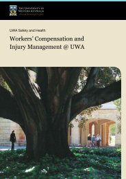 Workers' Compensation and Injury Management @ UWA