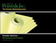Printable Substrates Photoluminescent Products The ... - signSearch