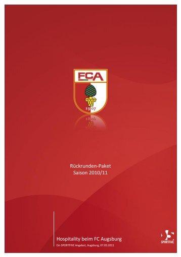 Hospitality beim FC Augsburg Rückrunden ... - B4B SCHWABEN