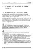 Instructions de service générales Echangeur de chaleur à plaques - Page 6