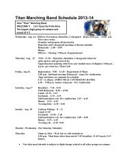 Titan Marching Band Schedule 2013-14 - Westminster College