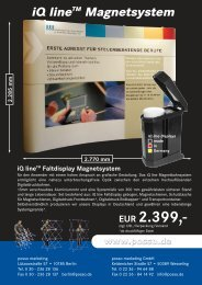 iQ line 33 Faltdisplay Werbung (Page 1) - Posso Marketing GmbH