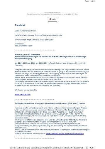 Januar - Zukunftsrat Hamburg