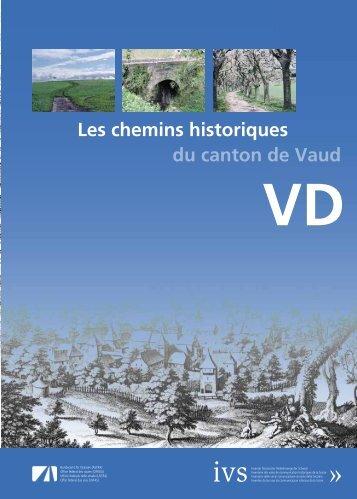 Les chemins historiques du canton de Vaud - IVS Inventar ...