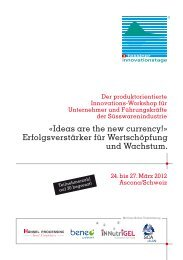 Programm 2012 (PDF, 860 KB) - Tessiner Innovationstage