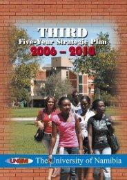 5Year Strategic Plan - University of Namibia