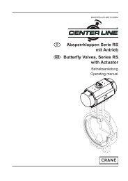 Absperrklappen Serie RS mit Antrieb Butterfly Valves, Series RS ...