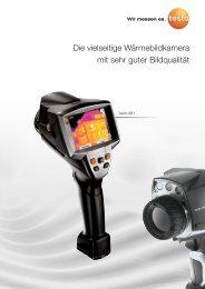 Ausführliche technische Daten der Wärmebildkamera testo 881 für
