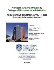 Northern Arizona University College of Business Administration