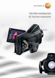 Ausführliche technische Daten der Wärmebildkamera testo 890 für