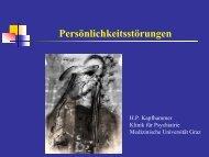 Zur Therapie schwerer Persönlichkeitsstörungen - Medizinische ...