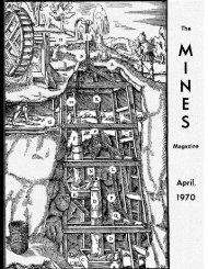 The Magazine April, 1970 - Mines Magazine - Colorado School of ...