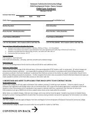 Child Care Contract - Delaware Technical Community College