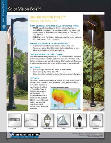 Solar Vision Pages - Visionaire Lighting, LLC