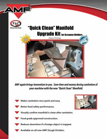 """Quick Clean"" Manifold - AMF Bakery Systems"