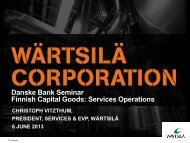 Presentation - Danske Bank Services Operations Seminar ... - Wärtsilä