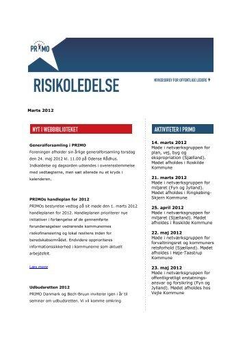 Download nyhedsbrevet for marts 2012 - primo