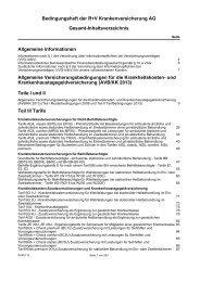 Bedingungsheft der R+V Krankenversicherung AG Gesamt ...