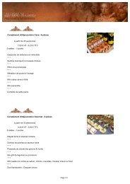Complément dî/déjeunatoire Cana - 6 piéces à partir de ... - All in web