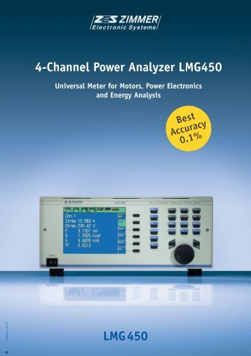 LMG450 4-Channel Power Analyzer LMG450 - Adler Instrumentos