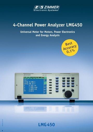 LMG450 4-Channel Power Analyzer LMG450 - Adler Instrumentos
