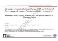Advantages of Intensity-Modulated Therapy (IMRT ... - Wcenter.de