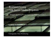 Re-Finanzierung von Social-Media-Projekten - Online-Journalismus