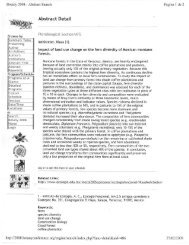 Botany 2008 - Abstract Search Siummary Table - Instituto de ...