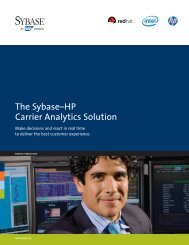 The Sybase–HP Carrier Analytics Solution